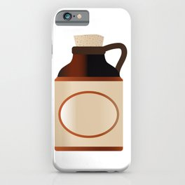 Blank Stone Bottle With Cork iPhone Case