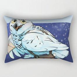 Snowy Owl Messenger Rectangular Pillow