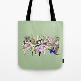 Animal Ballet Hipsters - Green Tote Bag