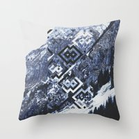 geo Throw Pillows featuring GEO by MIRA design