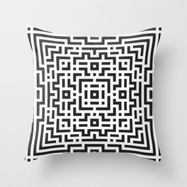 Five Fours Throw Pillow