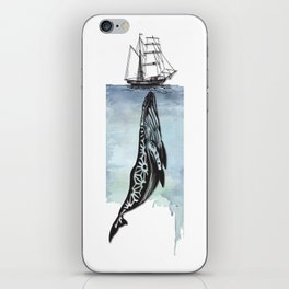 Whale And Boat iPhone Skin