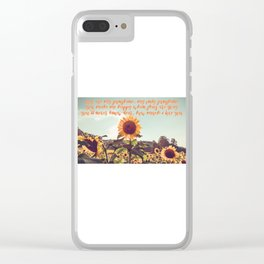 You are my sunshine #sunflowers #inspirational Clear iPhone Case