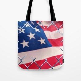 Illegal immigration concept Tote Bag