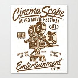 Cinema Scope - Retro Movie Fistival Canvas Print