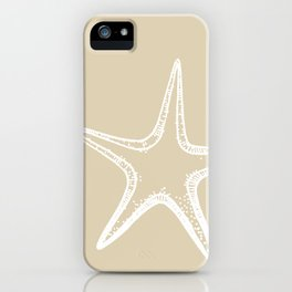Starfish Sand Tan Beige iPhone Case