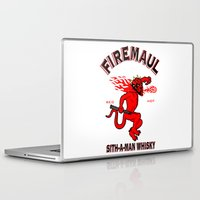 whisky Laptop & iPad Skins featuring Firemaul Whisky by Ant Atomic