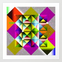 metallic Art Prints featuring Metallic by dogooder