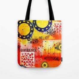 """Belief Confidence Attitude Commit"" Original design by PhillipaheART Tote Bag"