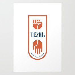 Tezak Family Crest Art Print
