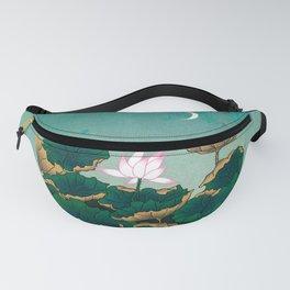 Minhwa: Lotus Pond at Night C Type (Korean traditional/folk art) Fanny Pack