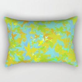 Scattered Leaves Rectangular Pillow