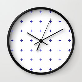 PLUS ((berry blue on white)) Wall Clock