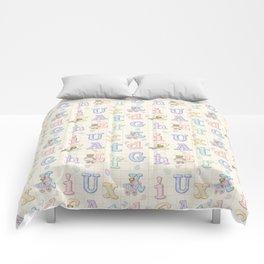 Teddy Bear Alphabet ABC's Comforters