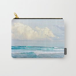 Blue Water Fluffy Clouds Carry-All Pouch