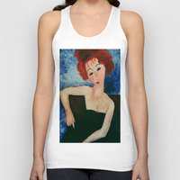 redhead Tank Tops featuring Redhead by Sandra Dimitrijevic