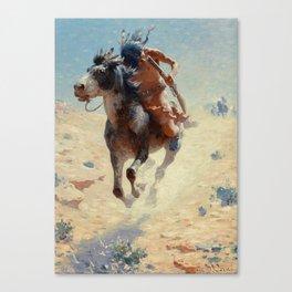 "William Leigh Western Art ""Indian Rider"" Canvas Print"