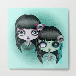 Zombie Doll The Dark Side Metal Print