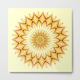 Golden Star Mandala Metal Print