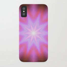 Shining Star Pink Mauve Lavender iPhone Case