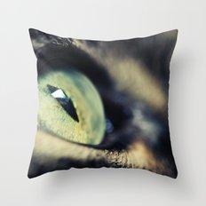 Green Iris Throw Pillow