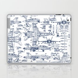 F-18 Blueprints // Blue Ink Laptop & iPad Skin