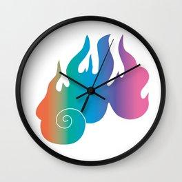 Rainbow Flame of God's Wrath Wall Clock