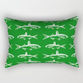 Emerald Fish Rectangular Pillow