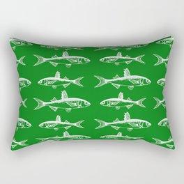 Emerald Fish Rectangular Pillow