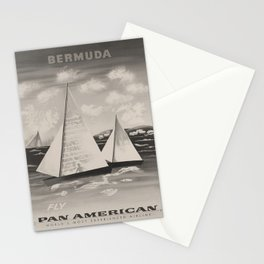 Nostalgie Bermuda voyage poster Stationery Cards