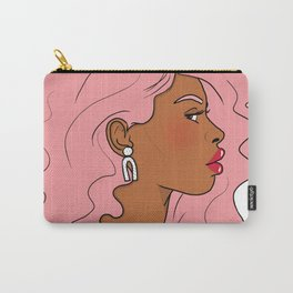 Pink Hair, Red Lips Carry-All Pouch