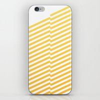 bands iPhone & iPod Skins featuring Yellow bands by blacknote