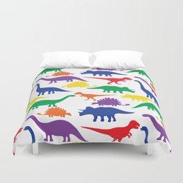Dinosaurs - White Duvet Cover