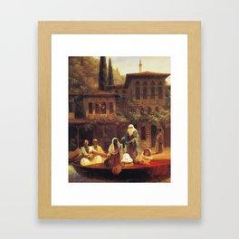 Ivan Constantinovich Aivazovsky - Boat Ride by Kumkapi in Constantinople Framed Art Print