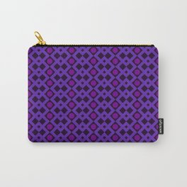 Geometric Design - Purple and Magenta - Diamonds Circles Squares Carry-All Pouch