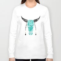 southwest Long Sleeve T-shirts featuring Southwest Skull by Verreaux