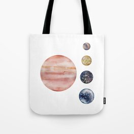 Jupiter & Moons Tote Bag