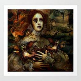 The Demon is hidden Art Print