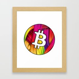 Bitcoin magic colours Framed Art Print
