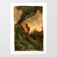 wind Art Prints featuring Wind by Iris V.