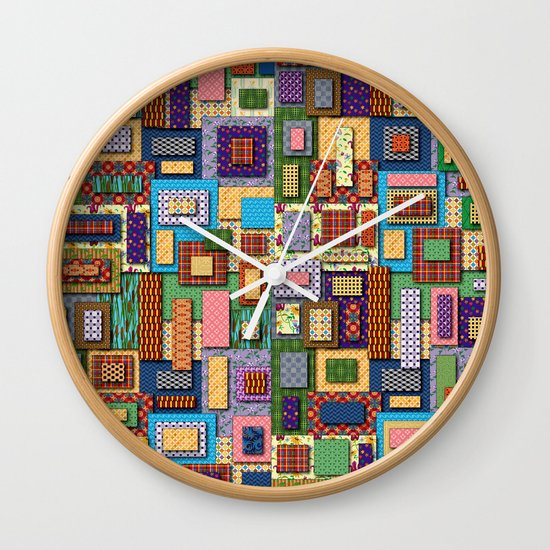 Patchwork Wall Clock