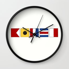 Nautical Bitch Wall Clock