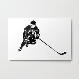 Born for Hockey - Hockey Player Metal Print