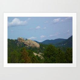 Mountains and Rocks Art Print