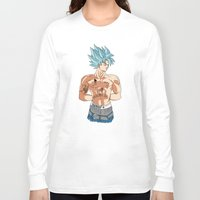 2pac Long Sleeve T-shirts featuring Goku Shakur Kakarot//2Pac by Λdd1x7