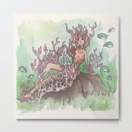 Empire of Mushrooms: Artomyces pyxidatus Metal Print