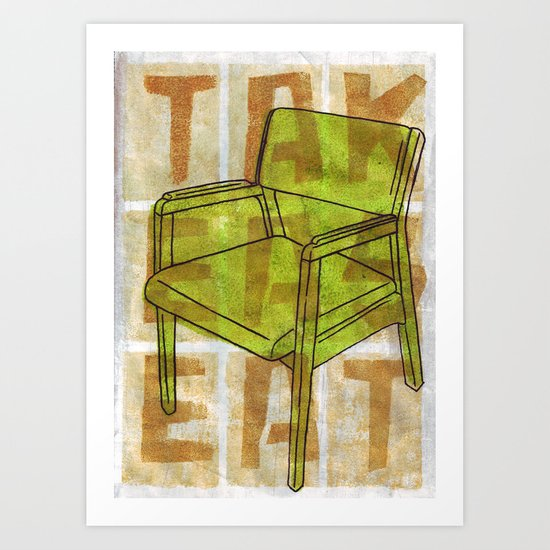 Come On In...Take A Green Seat Art Print