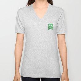 Green Skulls Unisex V-Neck
