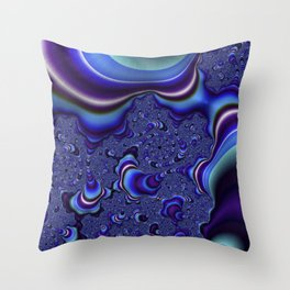 Fractal Art-Blue and Purple Infinity Throw Pillow