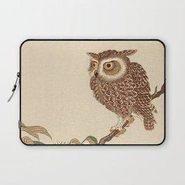 Owl Sitting on Branch Laptop Sleeve